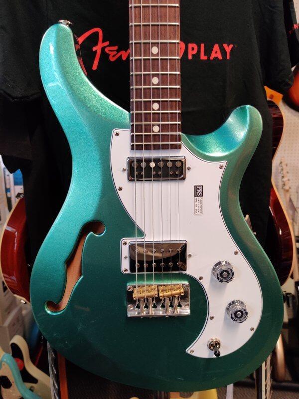 PRS S2 Vela Hollowbody - Frost Green Metallic - Close Up